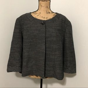 {Talbots} Cropped Single Button Swing Jacket